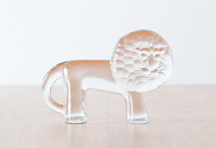 Kosta Boda(コスタボダ)/ZOOシリーズ/クリスタルガラスのライオンの置物/ビンテージ/スウェーデン