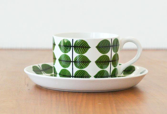 GUSTAVSBERG(グスタフスベリ)/ベルサ(BERSA)ーコーヒーカップ&ソーサー/スウェーデン/ビンテージ 画像