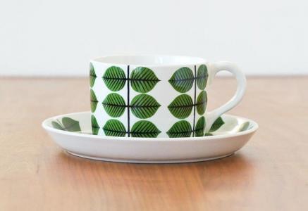 GUSTAVSBERG(グスタフスベリ)/ベルサ(BERSA)ーコーヒーカップ&ソーサー/スウェーデン/ビンテージ