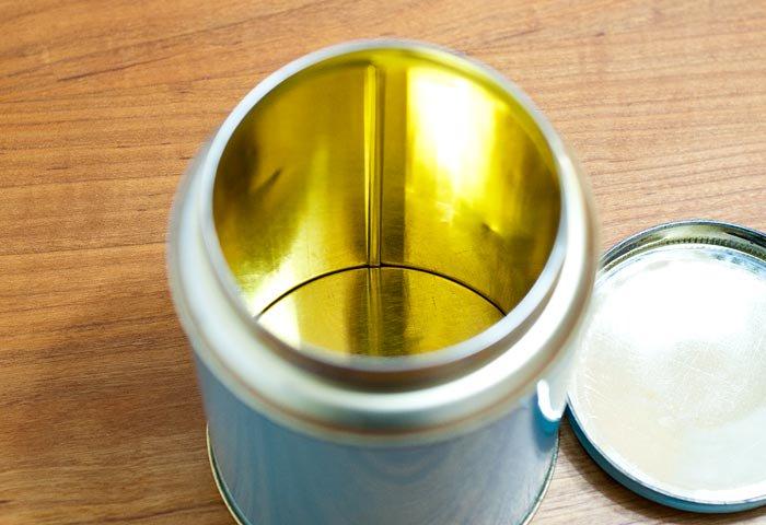 北欧で使われていた、ブリキ缶(水色)  画像03