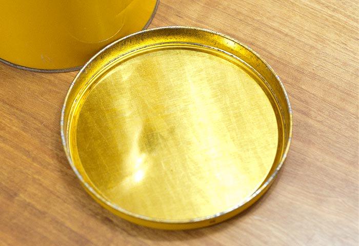 北欧で使われていた、ブリキ缶(黄色)  画像03