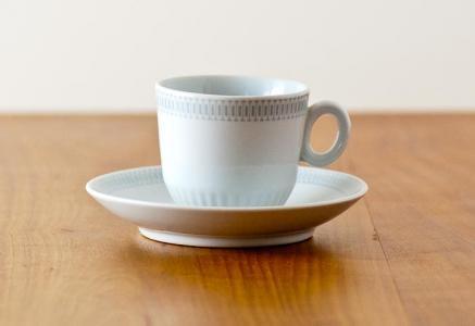 Upsala Ekeby(ウプサラエクビィ)/KARLSKRONAーコーヒーカップ&ソーサー/スウェーデン/ビンテージ