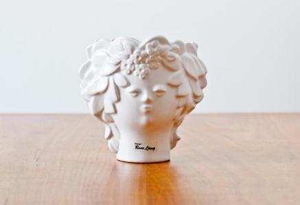 DECO(デコ)/Rosa Ljungデザイン陶器の花瓶(女性の顔)/スウェーデン