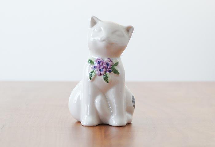 DECO(デコ)/陶器の猫の置物/スウェーデン 画像