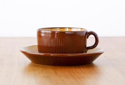 GABRIEL(ガブリエル釜)/コーヒーカップ&ソーサー/スウェーデン/ビンテージ