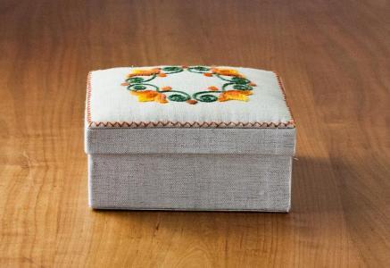 北欧で使われていた、布製の箱(ボックス)