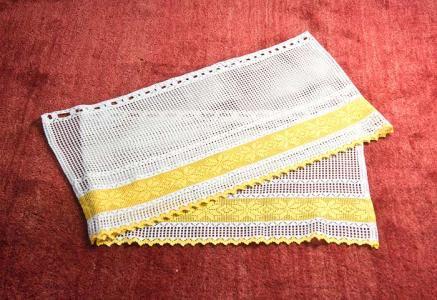 北欧で使われていた、編みのカフェカーテン/ビンテージ