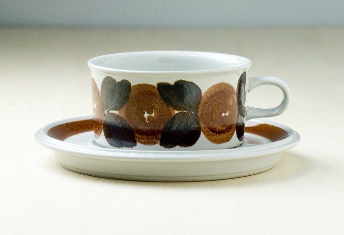 ARABIA(アラビア)/ROSMARIN(ロスマリン)ーカップ&ソーサー(大)/フィンランド/ビンテージ 画像