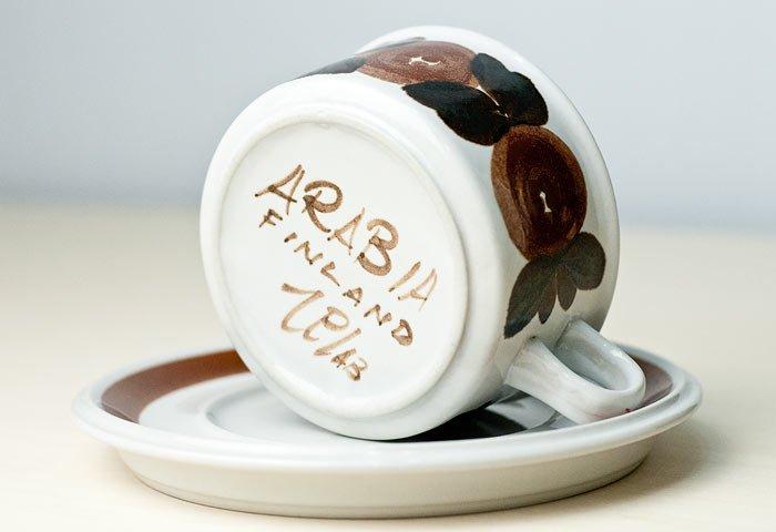 ARABIA(アラビア)/ROSMARIN(ロスマリン)ーカップ&ソーサー(大)/フィンランド/ビンテージ  画像04