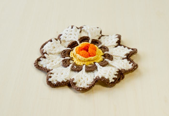 北欧で使われていた、花形のポットホルダー(鍋つかみ)/ビンテージ  画像02