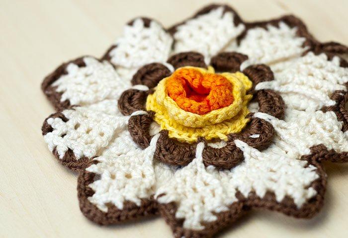 北欧で使われていた、花形のポットホルダー(鍋つかみ)/ビンテージ  画像03