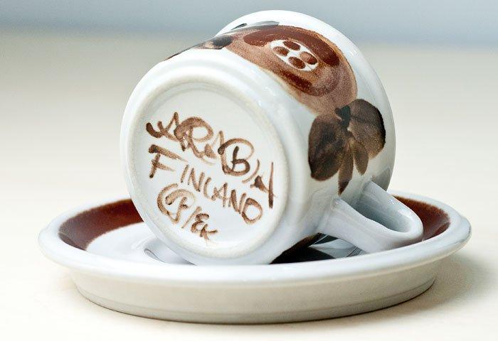 ARABIA(アラビア)/ROSMARIN(ロスマリン)ーカップ&ソーサー(小)/フィンランド/ビンテージ  画像04