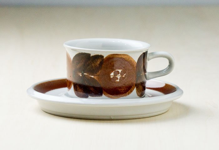 ARABIA(アラビア)/ROSMARIN(ロスマリン)ーカップ&ソーサー(小)/フィンランド/ビンテージ  画像02