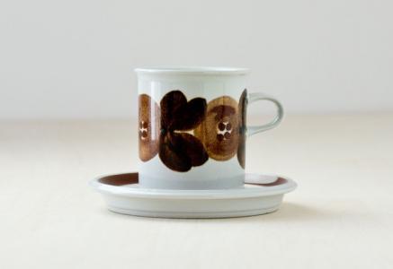 ARABIA(アラビア)/ROSMARIN(ロスマリン)ーカップ&ソーサー/フィンランド/ビンテージ
