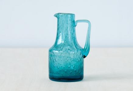 北欧で使われていた、ガラスのソースピッチャー/ビンテージ