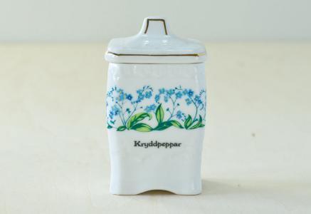 Fyrklovern/Mormors Kryddhylla - 陶器のスパイスジャー スパイス胡椒/スウェーデン/ビンテージ/K0031