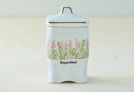 Fyrklovern/Mormors Kryddhylla - 陶器のスパイスジャー ローリエ/スウェーデン/ビンテージ/K0032