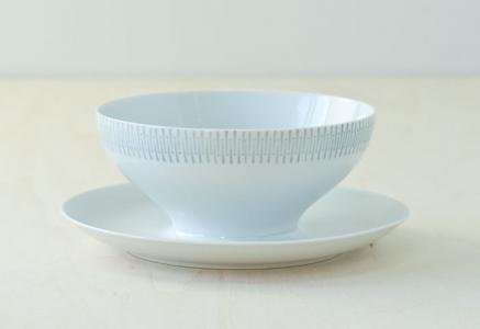 Upsala Ekeby(ウプサラエクビィ)/KARLSKRONAーお皿付きのボウル/スウェーデン/ビンテージ/T0160