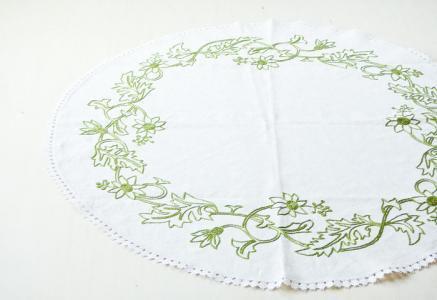北欧で使われていた、刺繍のセンタークロス/ビンテージ/F0087