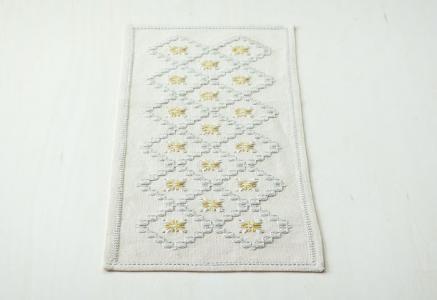 北欧で使われていた、刺繍のセンタークロス/ビンテージ/F0104