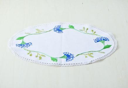 北欧で使われていた、刺繍のドイリー/ビンテージ/F0103