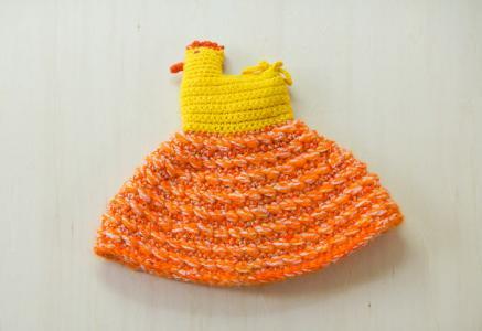北欧で使われていた、手編みのエッグカバー/ビンテージ/F0015