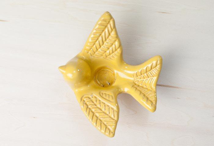 GABRIEL(ガブリエル釜)/陶器の小鳥のキャンドルスタンド/スウェーデン/ビンテージ/I0063  画像03