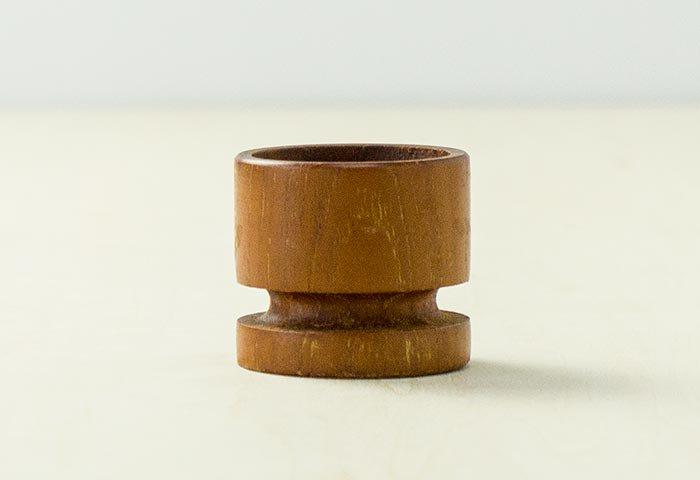 北欧で使われていた、チーク材のエッグスタンド/ビンテージ/T0315 画像