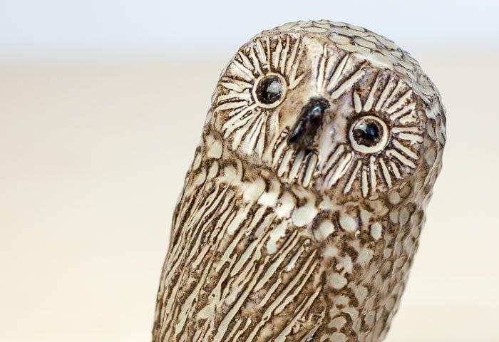 Trosa Keramik/陶器のふくろうの置物/スウェーデン/ビンテージ/I0070  画像03