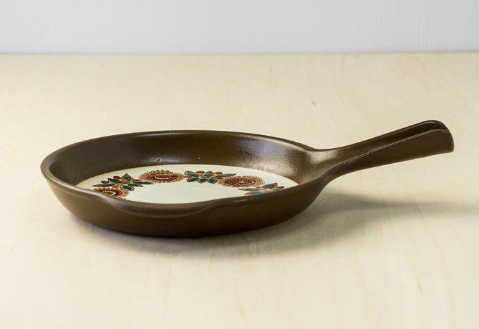 FIGGJO(フィッギオ)/VULCANUSー陶器のスキレット(茶)/ノルウェー/ビンテージ/K0063 画像