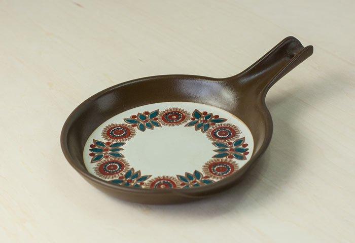 FIGGJO(フィッギオ)/VULCANUSー陶器のスキレット(茶)/ノルウェー/ビンテージ/K0063  画像03