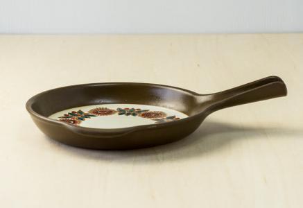 FIGGJO(フィッギオ)/VULCANUSー陶器のスキレット(茶)/ノルウェー/ビンテージ/K0063