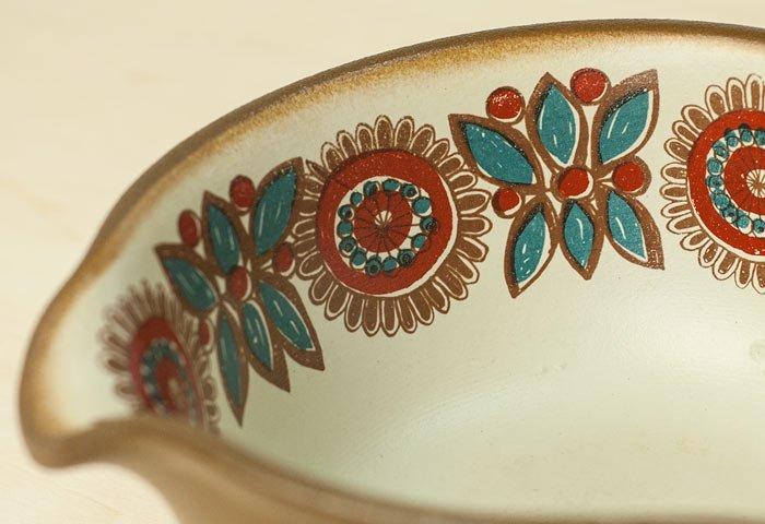 FIGGJO(フィッギオ)/VULCANUSー深めの陶器のスキレット(茶)/ノルウェー/ビンテージ/K0064  画像04