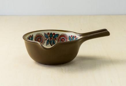 FIGGJO(フィッギオ)/VULCANUSー深めの陶器のスキレット(茶)/ノルウェー/ビンテージ/K0064