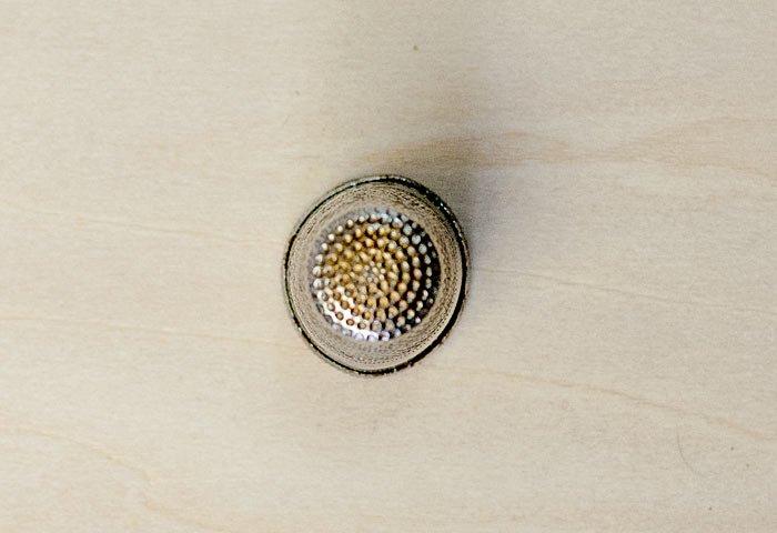 北欧で使われていた、ビンテージの指貫(シンブル) / ビンテージ / S0045  画像02