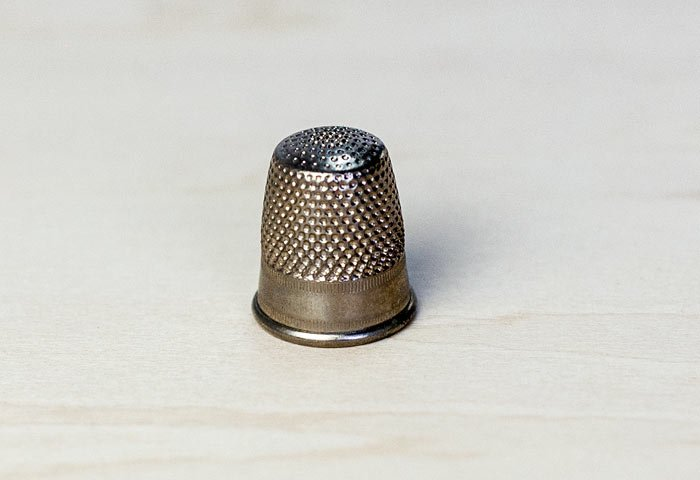 北欧で使われていた、ビンテージの指貫(シンブル) / ビンテージ / S0050 画像
