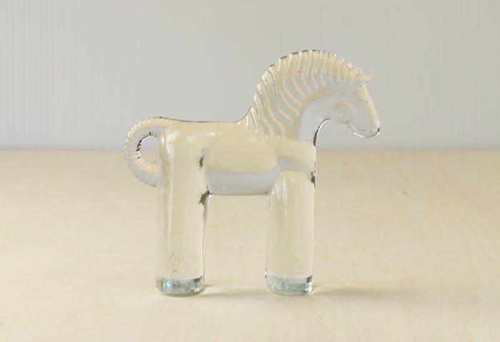Kosta Boda(コスタボダ)/ZOOシリーズ/馬のクリスタルガラスの置物/スウェーデン/ビンテージ/I0088 画像