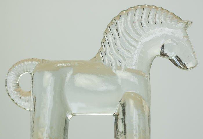 Kosta Boda(コスタボダ)/ZOOシリーズ/馬のクリスタルガラスの置物/スウェーデン/ビンテージ/I0088  画像02