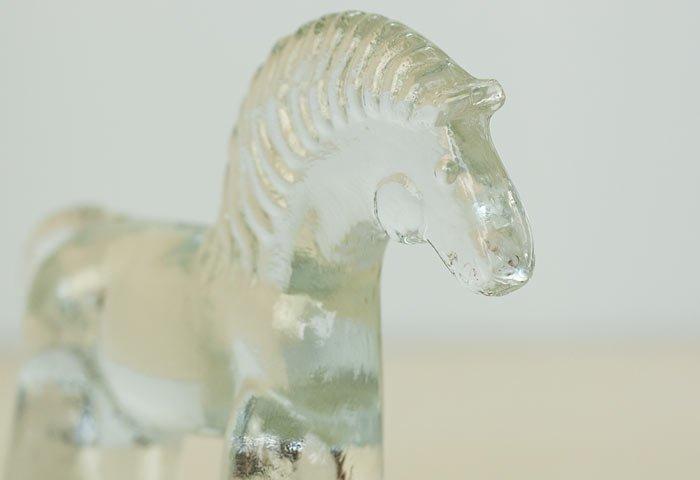 Kosta Boda(コスタボダ)/ZOOシリーズ/馬のクリスタルガラスの置物/スウェーデン/ビンテージ/I0088  画像03