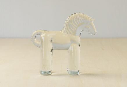 Kosta Boda(コスタボダ)/ZOOシリーズ/馬のクリスタルガラスの置物/スウェーデン/ビンテージ/I0088