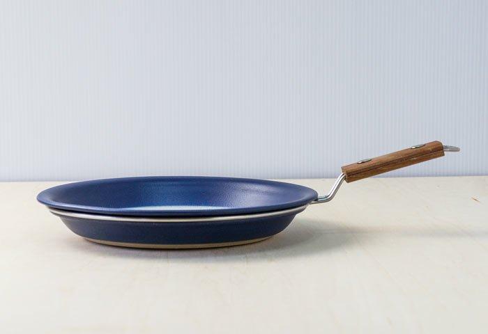 FIGGJO(フィッギオ)/VULCANUS - 陶器のスキレット(青)/ノルウェー/ビンテージ/K0070 画像