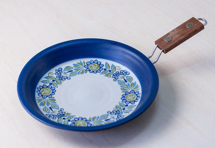 FIGGJO(フィッギオ)/VULCANUS - 陶器のスキレット(青)/ノルウェー/ビンテージ/K0070  画像03