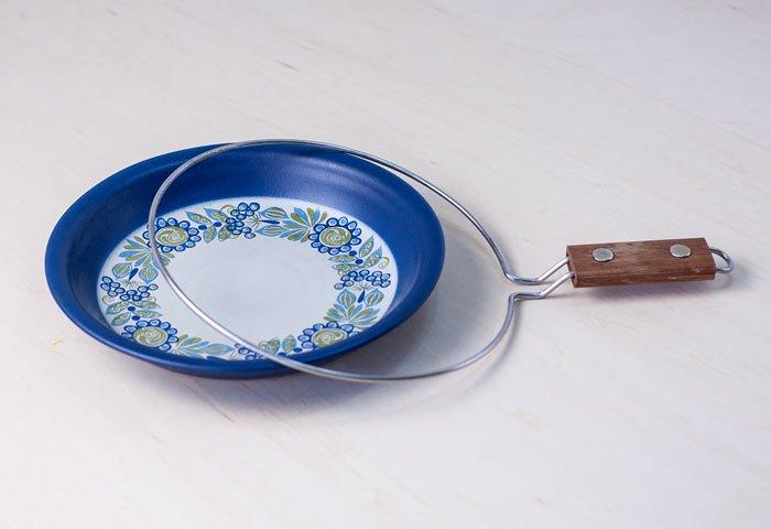 FIGGJO(フィッギオ)/VULCANUS - 陶器のスキレット(青)/ノルウェー/ビンテージ/K0070  画像04