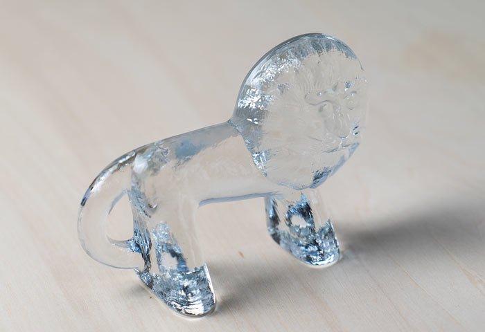 Kosta Boda(コスタボダ)/ZOOシリーズ/クリスタルガラスのライオンの置物M/ビンテージ/スウェーデン/I0107  画像02
