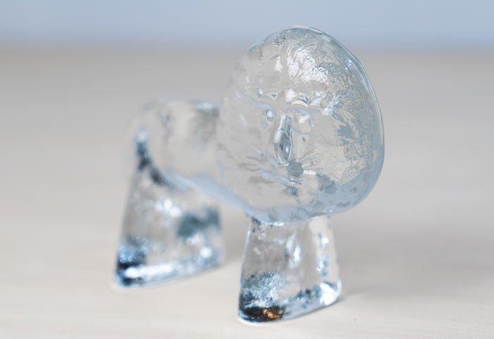 Kosta Boda(コスタボダ)/ZOOシリーズ/クリスタルガラスのライオンの置物M/ビンテージ/スウェーデン/I0107  画像03