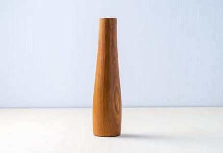 北欧で使われていた、チーク材でできた花器/ビンテージ/I0102