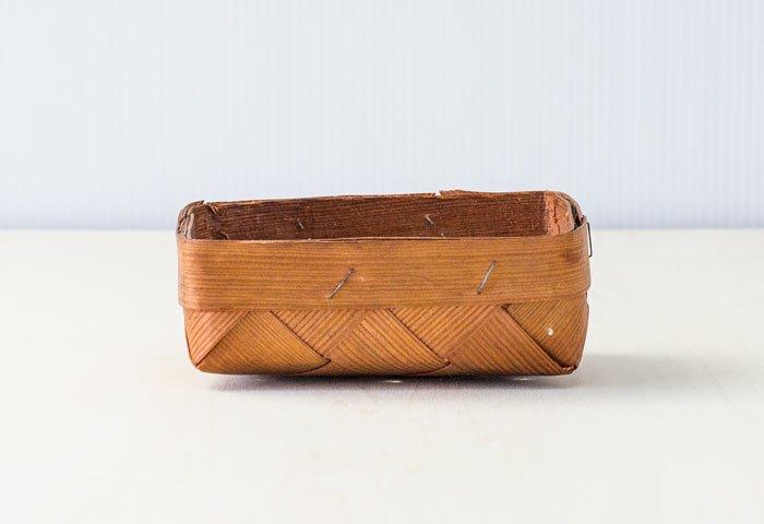 北欧で使われていた、スウェーデン製の手編みのカゴ/ ビンテージ / S0062
