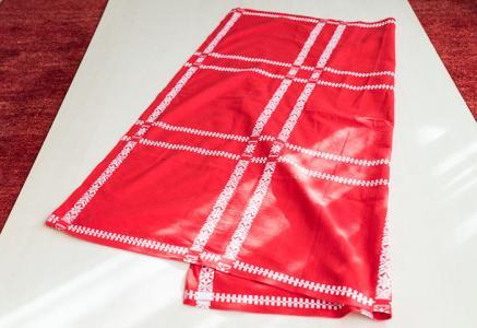 北欧で使われていた、クリスマス用のテーブルクロス/ビンテージ/F0133