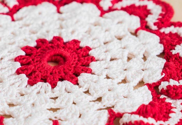 北欧で使われていた、赤い花のモチーフのポットホルダー(鍋つかみ)/ビンテージ/F0135-2  画像03
