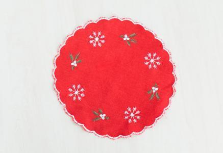 北欧で使われていた、クリスマス用のドイリー(敷き物)/ビンテージ/F0140